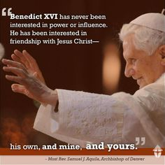It isn't just Benedict's decision to step down for the good of the Church that is an example of his humility. It's also his only ever being himself, never trying to be something or someone he isn't. Friendship with Christ means we must be the people God calls us to be, letting Christ be Himself, too. They go together. It means letting Him love & sanctify the person we are (not who we become when trying to be what we aren't), casting out into the deep, trusting that He loves us & will guide…