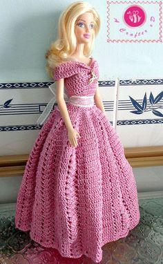 crochet barbie princess gown                                                                                                                                                                                 Más