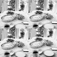 Coffee , apple pie , cookies  and friends
