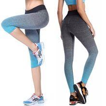 2016 Mujeres de la Yoga Deporte Pantalones Capri Leggings Verano De Ropa Capris…