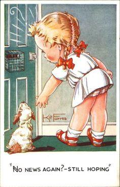 'Still Hoping'... Kit Forres postcard
