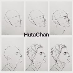"13.8k lượt thích, 67 bình luận - HutaChan (@hutachan96) trên Instagram: ""Tutorial #drawing #draw #tutorial #anime #semirealistic #art #artwork #hair #boy #handsome #sketch…"""