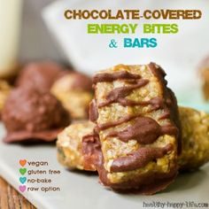Chocolate-Covered Almond Butter Energy Bites or Mini Bars