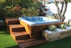 Hot Tub Enclosure Ideas: Looking to make your backyard more exciting? Here are 30 awesome hot tub enclosure ideas for your backyard! Hot Tub Gazebo, Hot Tub Backyard, Hot Tub Garden, Garden Gazebo, Small Garden Hot Tub Ideas, Backyard Patio Designs, Backyard Landscaping, Landscaping Ideas, Patio Ideas