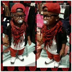 Baby Swag. Everything but the earrings. I won't do that to my baby boy.