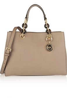 MICHAEL Michael Kors Cynthia medium textured-leather tote | NET-A-PORTER
