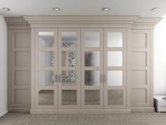 Shaker style spray painted doors wardrobe