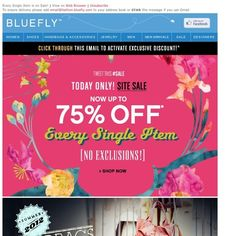 Bluefly - Every Single Item is on Sale Today