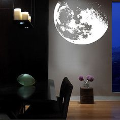 Peel and stick moon decal