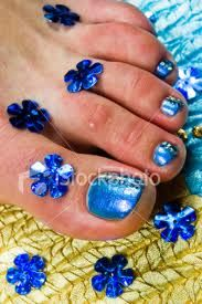 Blue nail polish-my toes and nails are this color right now.
