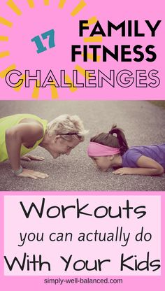 Family Fitness Challenges: How to Have Fun and Get Fit! – Fitness And Exercises Fitness Workouts, Fitness Herausforderungen, Fitness Motivation, Family Fitness, Fun Workouts, Fitness For Kids, Workouts With Kids, Workout Exercises, Fitness Tracker