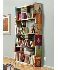 A book bookcase if you look closely this is really clever :) :) #readbooks #bookbookcase #booksarepowerful