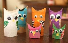Owl family from empty toilet rolls! by Lailah