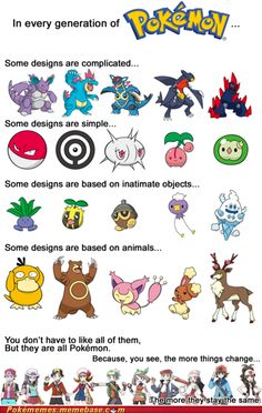 "i like this because pokemon has been getting ragged on lately. people saying they are lazy and are are loosing their touch. to that i say, ""then you don't like pokemon as much as you thought you did."""