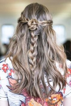 braid back and bun the ends.  pull a section of hair from under pun and braid separately