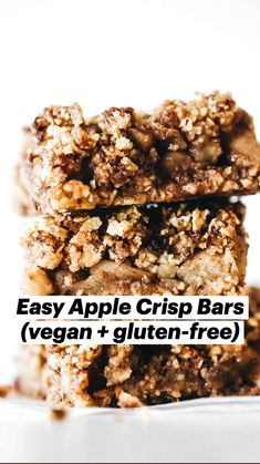 Healthy Gluten Free Recipes, Gluten Free Sweets, Healthy Dessert Recipes, Healthy Desserts, Vegan Gluten Free, Whole Food Recipes, Vegan Recipes, Snack Recipes, Vegan Treats