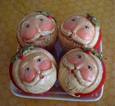 Christmas in July Santa Ornaments by holidaysparkle, via Flickr
