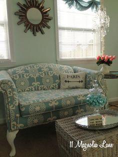 Reupholstery 101:  My Thrift Store Loveseat Redo {Part 2–Tutorial} – 11 Magnolia Lane