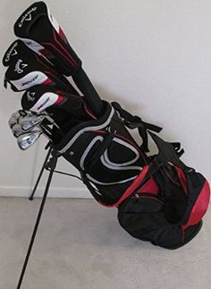 Mens Callaway Golf Set Clubs Driver, Fairway Woods, Hybrid, Irons, Putter Stand Bag Stiff Flex Complete Set