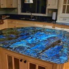 Labradorite countertops  Just think of the energy…I'd never want to leave…