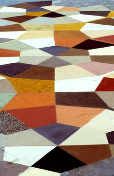 Photo credit: Peter Cox. Floor design with sand gathered from 300 countries!