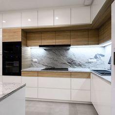 REALIZACJE - MebleACTIV Kitchen Design Open, Kitchen Cabinet Design, Kitchen Interior, New Kitchen, Kitchen Decor, Kitchen Cabinets, Kitchen Ideas, Kitchen Island, Bedroom Lighting