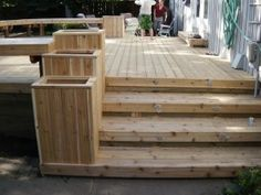 1000 images about planter boxes on pinterest mini for Box steps deck