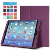 iPad Air Hülle  MoKo Schlank Folding Kunstleder Schutzhülle Leder Hülle Tasche Ledertasche Etui Smart Case Cover mit Standfunktion Auto Sleep/Wake up Funktion für Apple iPad Air/iPad 5 (5th Gen) Tactile Retina 9.7-Zoll TabletVIOLETT