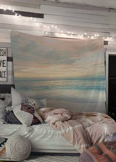 Beach Style Bedroom Ideas - A huge, slim room is perfect for a row of twin beds at a beach home where great deals ... With laid-back yet comfy decor, a basic bedroom will make your visitors ... #beachstylebedroom #bedroomideas #whitebeachstylebedroomfurniture