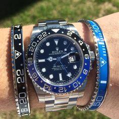"""Rolex GMT Master II """"Batman"""" in immaculate condition! Ref: #116710 #Rolex #GMT…"""