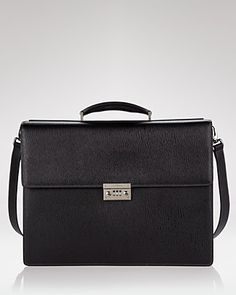 salvatore ferragamo men's revival double gusset briefcase.