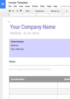 Use This Blank Invoice Template For Google Docs Now   Free!  Make A Invoice Template