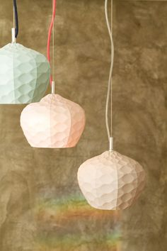 Matt and Kim from The Block - pastel ceramic light pendants by The Mod Collective. The Block Room Reveals, Ceramic Light, Ceramic Lamps, The Block Glasshouse, Lampshades, Lampshade Ideas, Modern Interior, Interior Ideas, Glass House