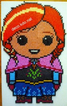 Frozen Disney hama perler beads by Deco.Kdo.Nat