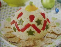 Christmas Ornament Cheese Ball