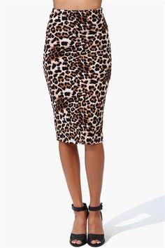 Feline Skirt in Brown
