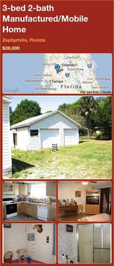 3-bed 2-bath Manufactured/Mobile Home in Zephyrhills, Florida ►$39,000 #PropertyForSale #RealEstate #Florida http://florida-magic.com/properties/22233-manufactured-mobile-home-for-sale-in-zephyrhills-florida-with-3-bedroom-2-bathroom