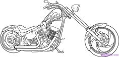 How to Draw a Motorcycle, Step by Step, Motorcycles, Transportation, FREE Online Drawing Tutorial, Added by Dawn, January 10, 2008, 7:48:52 pm