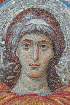 . Pebble Mosaic, Mosaic Art, Mosaic Tiles, Mosaic Portrait, Mosaic Crosses, Mosaic Madness, Byzantine Art, Orthodox Icons, Sacred Art