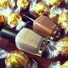 Happy National Chocolate Day! What is your favorite chocolaty treat? (Shown L-R: Zoya Nail Polish in Godiva & Dea)