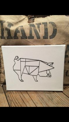 Geometric Pig String Art!