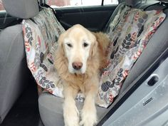 Practicing Pet Safety With A DIY Car Hammock Make a safe and comfortable place for your dog in the car. Dog Crafts, Animal Crafts, Dog Hammock For Car, Dog Seat Covers, Diy Dog Toys, Dog Car Seats, Dog Safety, Animal Projects, Pet Safe