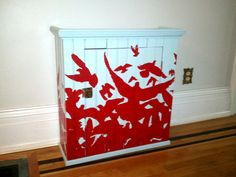 Upcycled Furniture Storage cabinet for kitchen by ThisIsDreams, $140.00