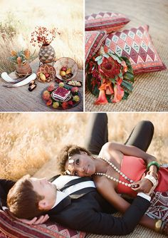 African Inspired  Design, Custom wardrobe, Makeup & Hair by Thorne Artistry // Photos: Ashley Kelemen // Video: Amanda Madeline // Flowers: Camelia Wedding Flowers // Furniture: Pow Wow // Jewelry: Erin Fader and private collection