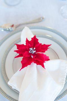 Клей Poinsettia Салфетка кольцо