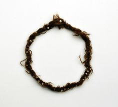SHIRA GOLDBERGER-ISRAEL/UK from the series 'A Pearl Necklace', Necklace, 2008         Raw lamb wool, embroidery thread.  Weaving, embroidery. Length: 790 mm