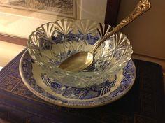 A Little Glass Bowl for something sweet Something Sweet, Glass, Table, Drinkware, Corning Glass, Tables, Desk, Tabletop, Yuri