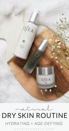 Natural products for dry skin featuring OSEA Malibu. Made with the goodness of the ocean and organic seaweed, these skincare products are super hydrating, plumping, and age-defying.