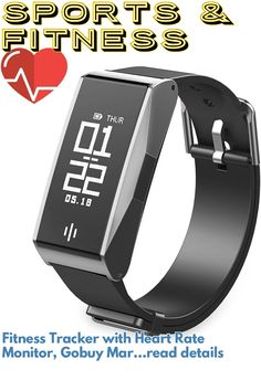 (This is an affiliate pin) Fitness Tracker with Heart Rate Monitor, Gobuy Mart IP67 Waterproof Fitness Tracker Watch with Blood Pressure Monitor, Smart Bracelet with Sleep Monitor, Calorie Counter, Call Reminding for Smartphone Best Fitness Tracker, Waterproof Fitness Tracker, Calorie Counter, Smart Bracelet, Heart Rate Monitor, Blood Pressure, Smartphone, Sleep, Watch