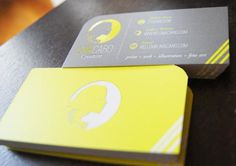 Business Card Design: 10 Neon Business Card Designs Inspiration